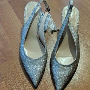 Zara rose gold/gold  heels